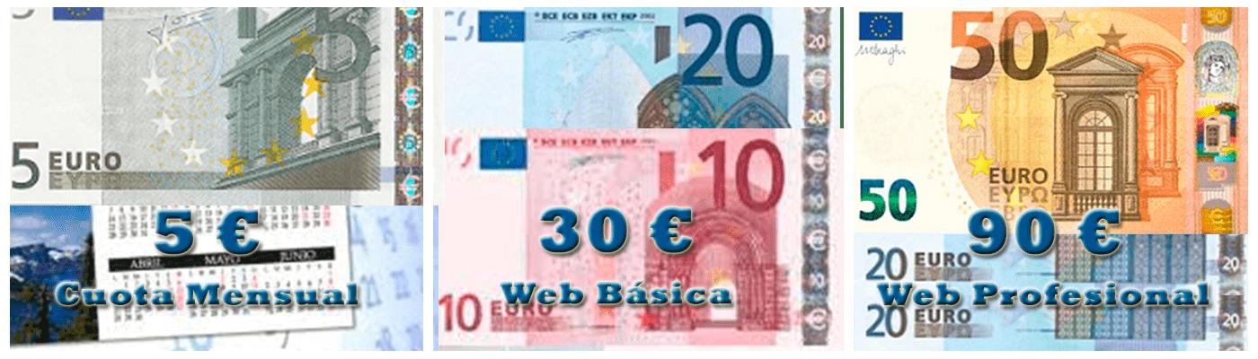 Precios de la Guía Digital de Servicios y Comercio de Moratalaz